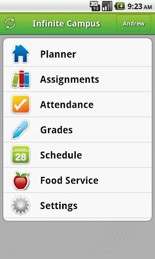 Infinite Campus Mobile Portal Screenshot