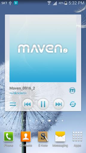 玩個人化App|MAVEN Player Blue Widget免費|APP試玩