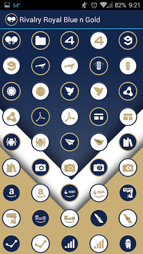 玩個人化App|Rivalry Royal Blue n Gold免費|APP試玩
