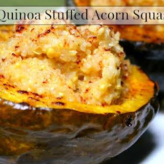 Quinoa Stuffed Roasted Acorn Squash.