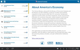 Screenshot of America's Economy for Tablet