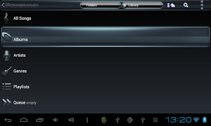 Poweramp skin Black Petrol APK screenshot thumbnail 13