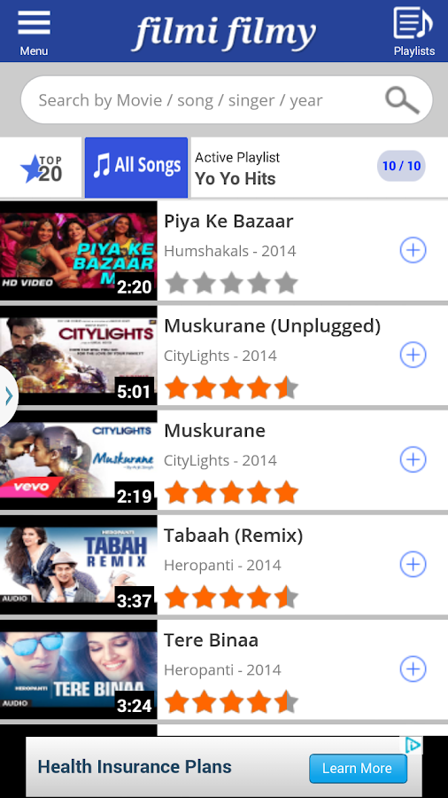 Screen Shot from Filmi Filmy app
