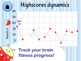 Screenshot of Brain Trainer with Ladybug