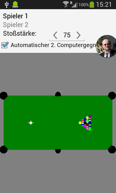billard gegen computer