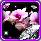 Orchid Diamonds live wallpaper