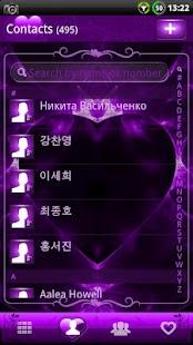 GOContacts theme Valentines- screenshot thumbnail