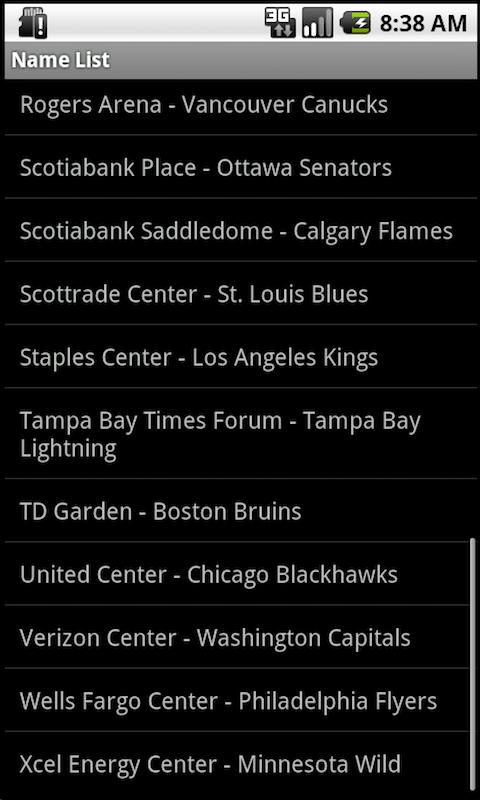 Pro Hockey Arenas Teams screenshot #3