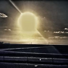 Sunset by Nena Guzmán - Landscapes Sunsets & Sunrises ( sunset, lanscape, path, night, sun, nature, landscape )