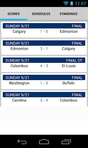 Hockey Scores NHL Schedule