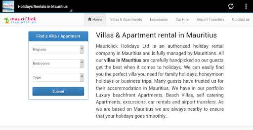 Holidays Rentals in Mauritius
