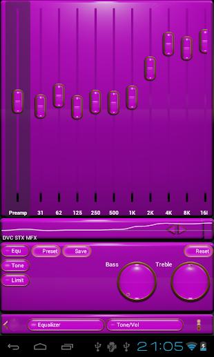 gold pink poweramp skin- screenshot thumbnail