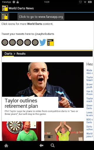 World Darts News FansApp