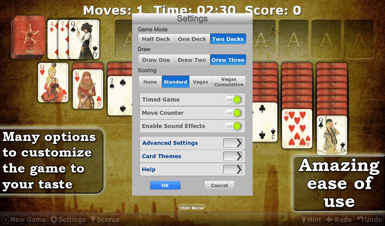 Solitaire Double-Deck HD- screenshot