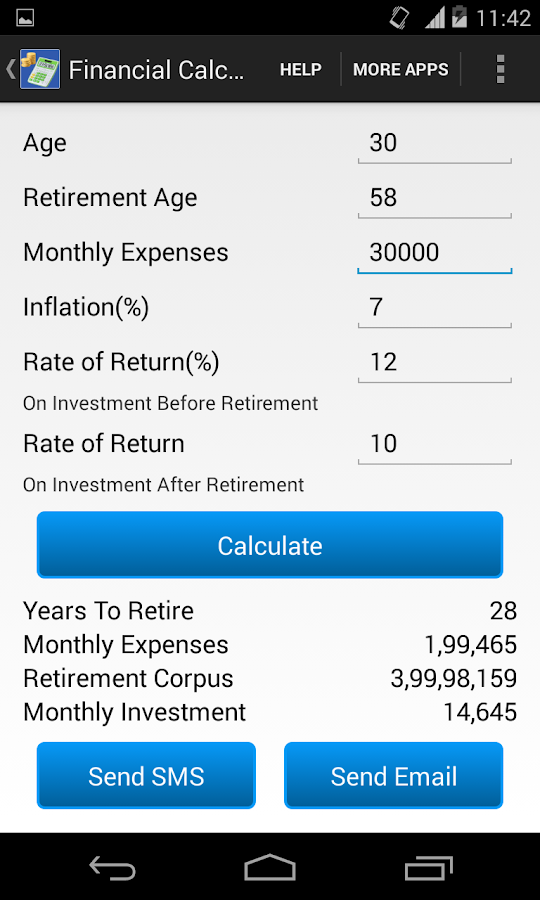 Financial Planner - screenshot