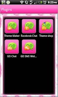 Screenshot of GO SMS - Pastel Flowers