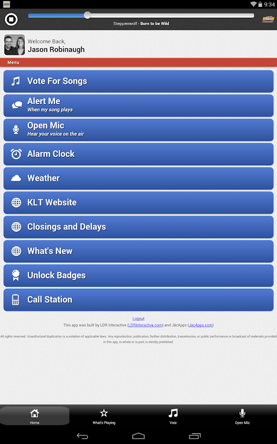 KLT Radio - The Rock Station - screenshot
