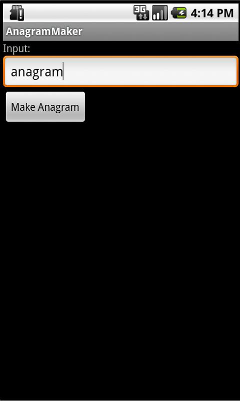 Anagram Maker- screenshot
