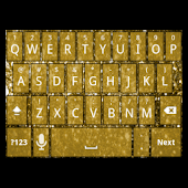 Gold Glitter Keyboard Skin