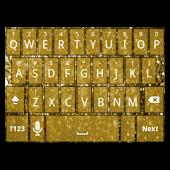 Gold Glitter Keyboard Skin