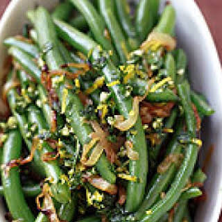 Green Beans with Orange and Rosemary Gremolata.