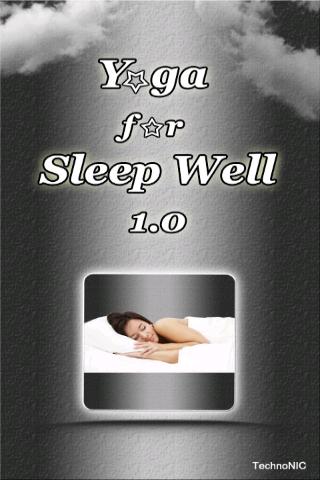 Yoga for Sleep Well