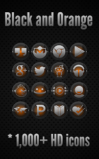 Icon Pack - Black and Orange - screenshot thumbnail