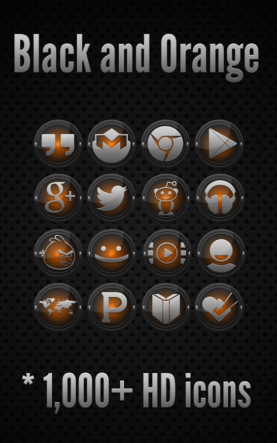 Black and Orange - Icon Pack - screenshot