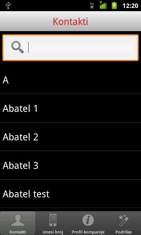 ABA tel - screenshot