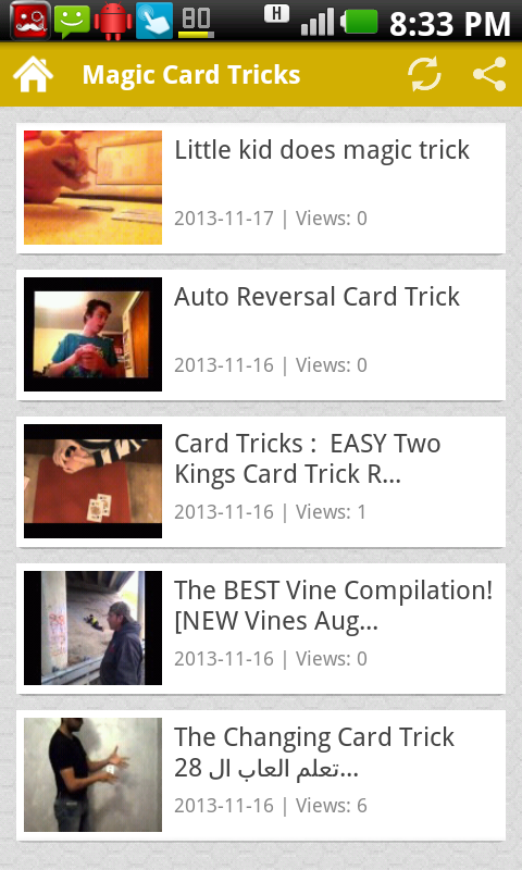 Magic Card Tricks - screenshot
