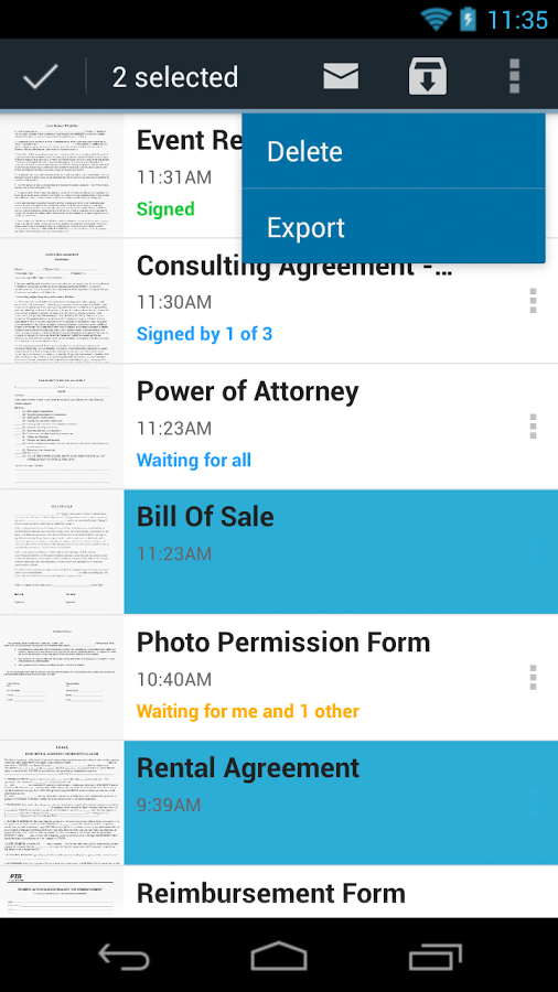 SignNow (formerly CudaSign)- screenshot