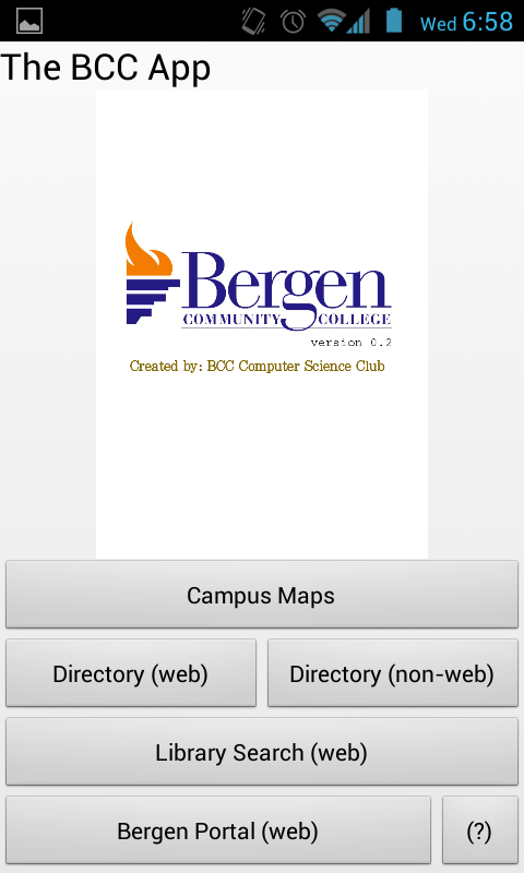 The BCC App - screenshot