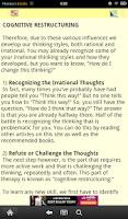 Screenshot of Cognitive Diary CBT Self-Help