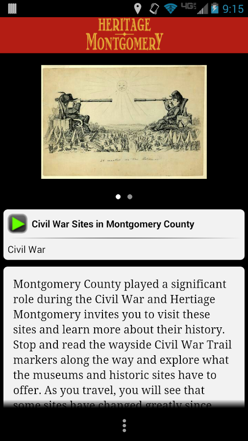 Heritage Montgomery, Maryland - screenshot
