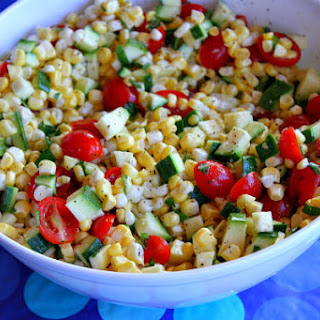 Fresh Corn, Tomato and Zucchini Salad