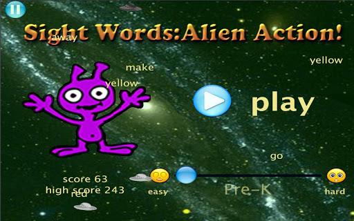 Sight Words: Alien Action