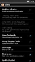 Screenshot of Package Tracker Express