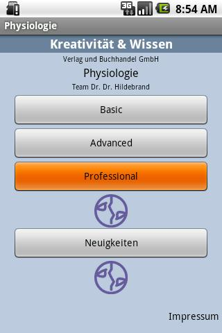 Physiologie - screenshot