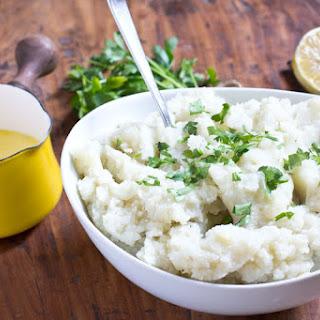 Healthy Garlic Mashed Potatoes.