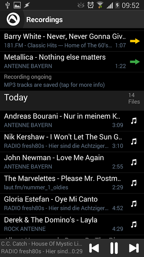 Audials Radio Player Recorder - screenshot