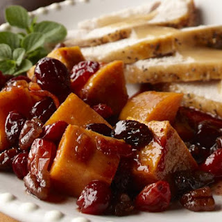 Spiced Sweet Potatoes and Cranberries.