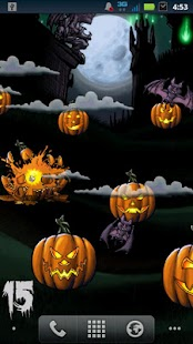 Halloween Pumpkin Smasher LWP - screenshot thumbnail