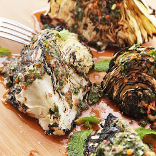 Grilled Cabbage With Spicy Thai Dressing.