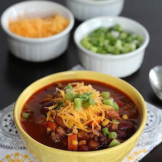 Three Bean & Beef Crock Pot Chili