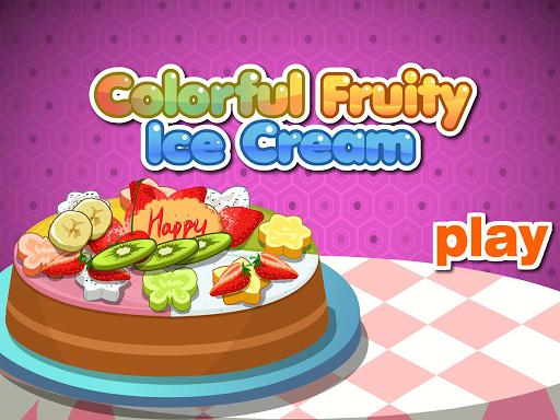多彩水果奶油蛋糕
