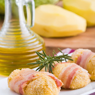 Bacon-Wrapped Potato Croquettes