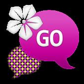 GO SMS - Purple Yellow Circles