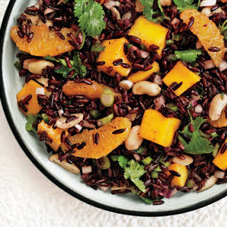 Black Rice Salad with Mango and Peanuts.