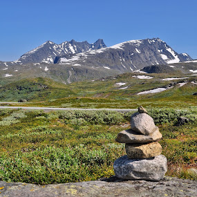 Sognefjell by Hilde Lorgen - Landscapes Mountains & Hills ( mountains, sognefjell, stone, summer, norway )