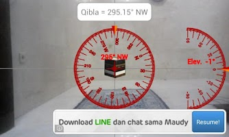 Screenshot of Camera Qibla
